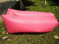 China factory square headrest sleeping bag/air bed/air couch design for comfort