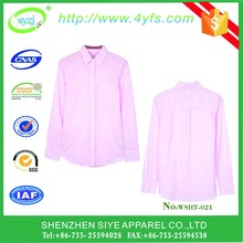 pink design wholesale office wear ladies formal shirt