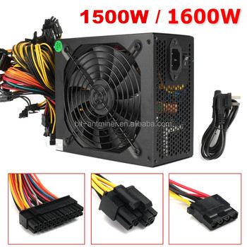 Ethereum miner psu 1600W power supply for ethereum miner GPU rx gtx 1080 1070 ti