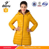 Winter jacket with hoodie zip clouse down coat western down jackets