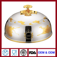 Silver plated Meat Dome Food Cover serving dome for restaurant household party wedding ceremony banquet banque buffet
