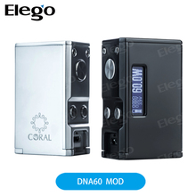 2017 Elego First Batch!!! Bottom Feeder Mod Electronic Cigarette Squonk Box Mod Lost Vape Coral DNA60 60W Box Mod With 510