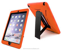 Classic impact proof long handle stand robot case for iPad air 2 iPad 6 silicone tablet skin