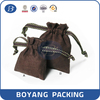 Factory direct sale drawstring velvet bags with label