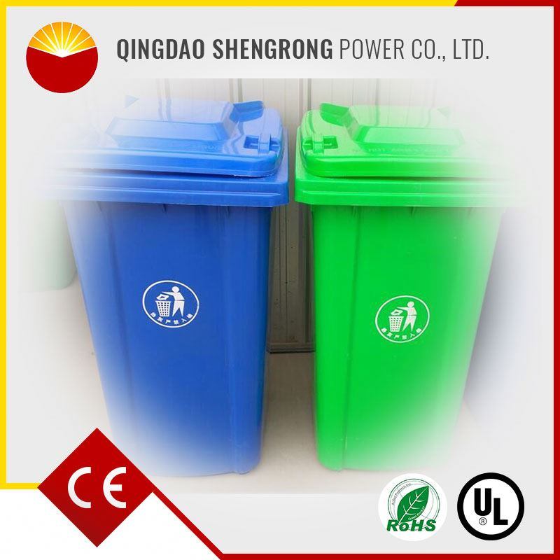 120L Green 2016 new products clear customized plastic garbage can