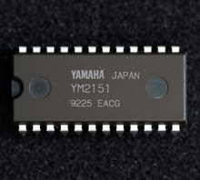 YM2151 . dual in-line 24 pins package / Electronic Components . PDIP-24 , FM Operator Type-M(OPM) integrated circuits . Microele