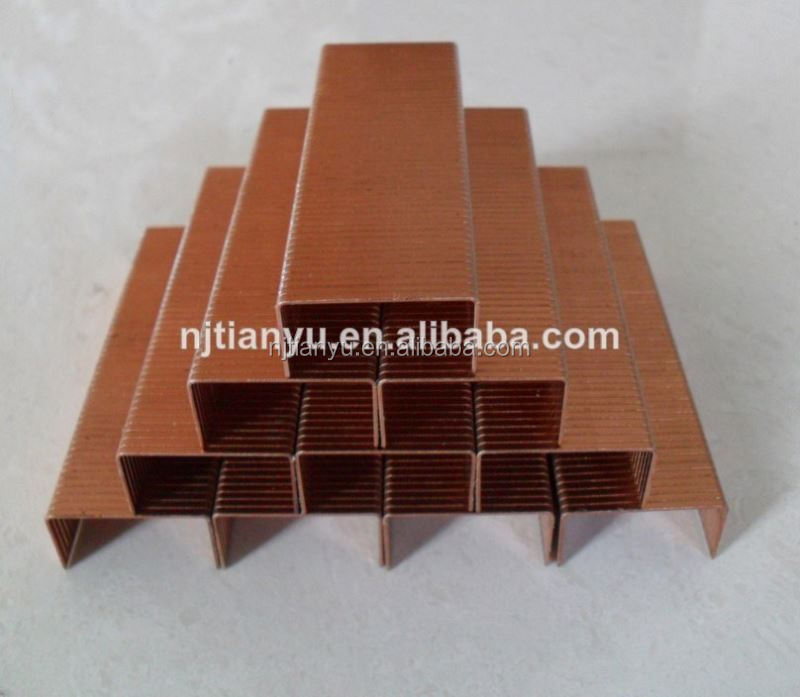 Manufacturing! Pneumatic staples of all sizes Carton fastening nails staple wire making machine