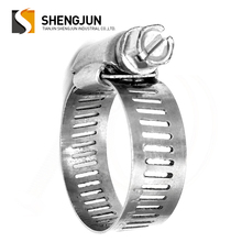 China manufacturer high quality stainless steel 1/2 bandwidth 304 worm drive american type hose clamp