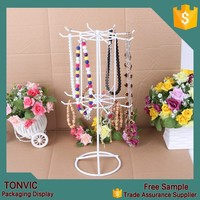 High quality metal necklace bangle display set stand holder whiite color body jewelry display packaging
