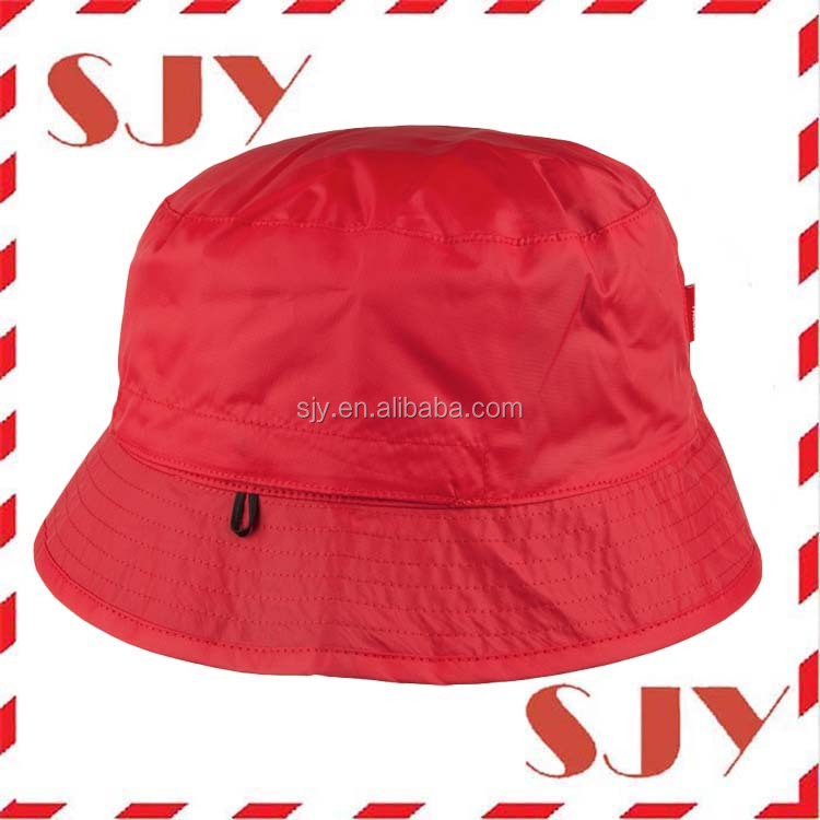 100%polyester foldable rain hat wholesale Reversible Bucket Hat