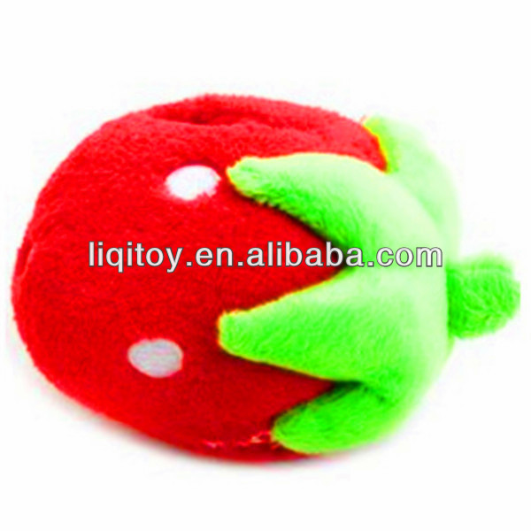 Hot stuffed strawberry soft plush toy cell phone holder