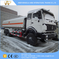 Best BeiBen truck price Stock 6x6 whole wheel drive 290hp oil tanker truck for sale