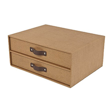 Best Seller Exquisite Househould / Office / School & Hotel Fabric 2 Drawer Box, Document Storage Box