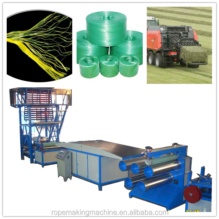 Trade assurance Package PP PE Plastic film electric power cable filler tying rope baler twine making machine