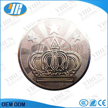 Crown logo token Wholesale vending machine customize stain steel game tokens also for amusement machine