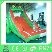 animal frog inflatable slide for kids