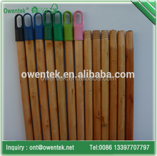 Factory wholesale varnished wooden broomstick/ high quality painted broom handle/clear or colorful painted broom handle
