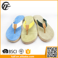 2016 sandals men leather flip flop shoes made in China
