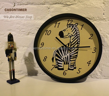 Cute Animal Wall Clock With Caroon Pictures For Children