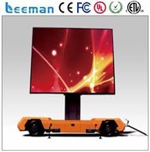truck mounted led display/ outdoor trivision advertising billboard solar power panels Leeman P10 mobile led screen truck