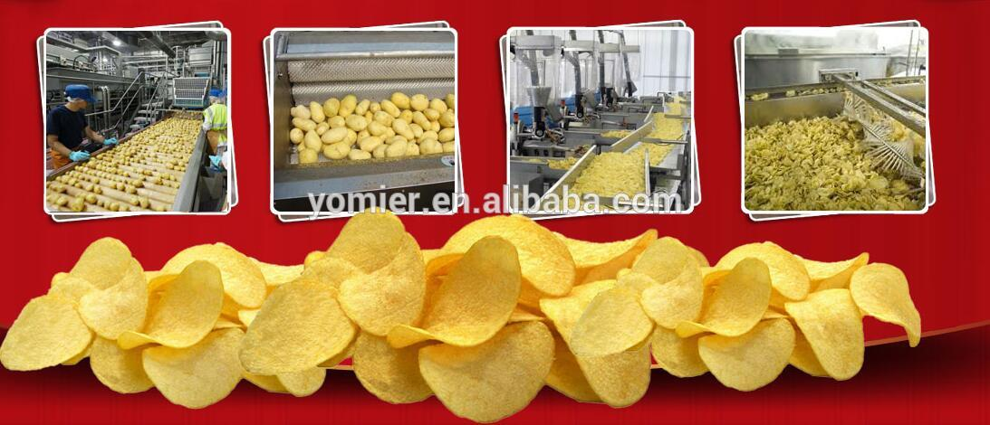 Directly Factory Price French Fries Potato Chips Production Line/ Crisp Potato Wave Chips Making Machine