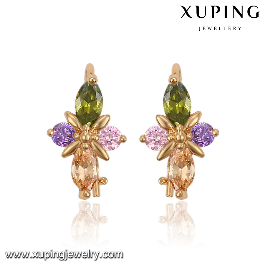 91560-Xuping Fancy design cheap crystal baby gold earring
