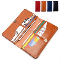 Modest Luxury Waterproof Leather Multifaction Wallet Case for Cellphone,Cards,Money