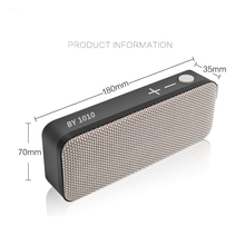 Bluetooth Speakers Fabric Covering Portable Wireless Speaker, 10W Touch Control Home Speakers, HD Audio Surround Stereo Speaker