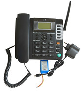 2016 top sale big lcd phone sim card desk phone with good price