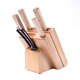 5 pieces stainless steel kitchen knife sets with wooden block