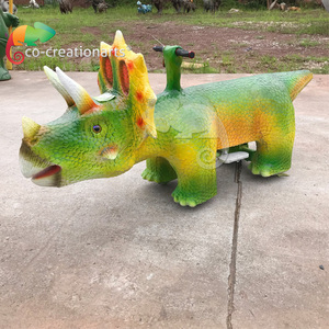 Dino Park Equipment Children Entertainment Dinosaur Car,Silicon Non-toxic Environmental Protection