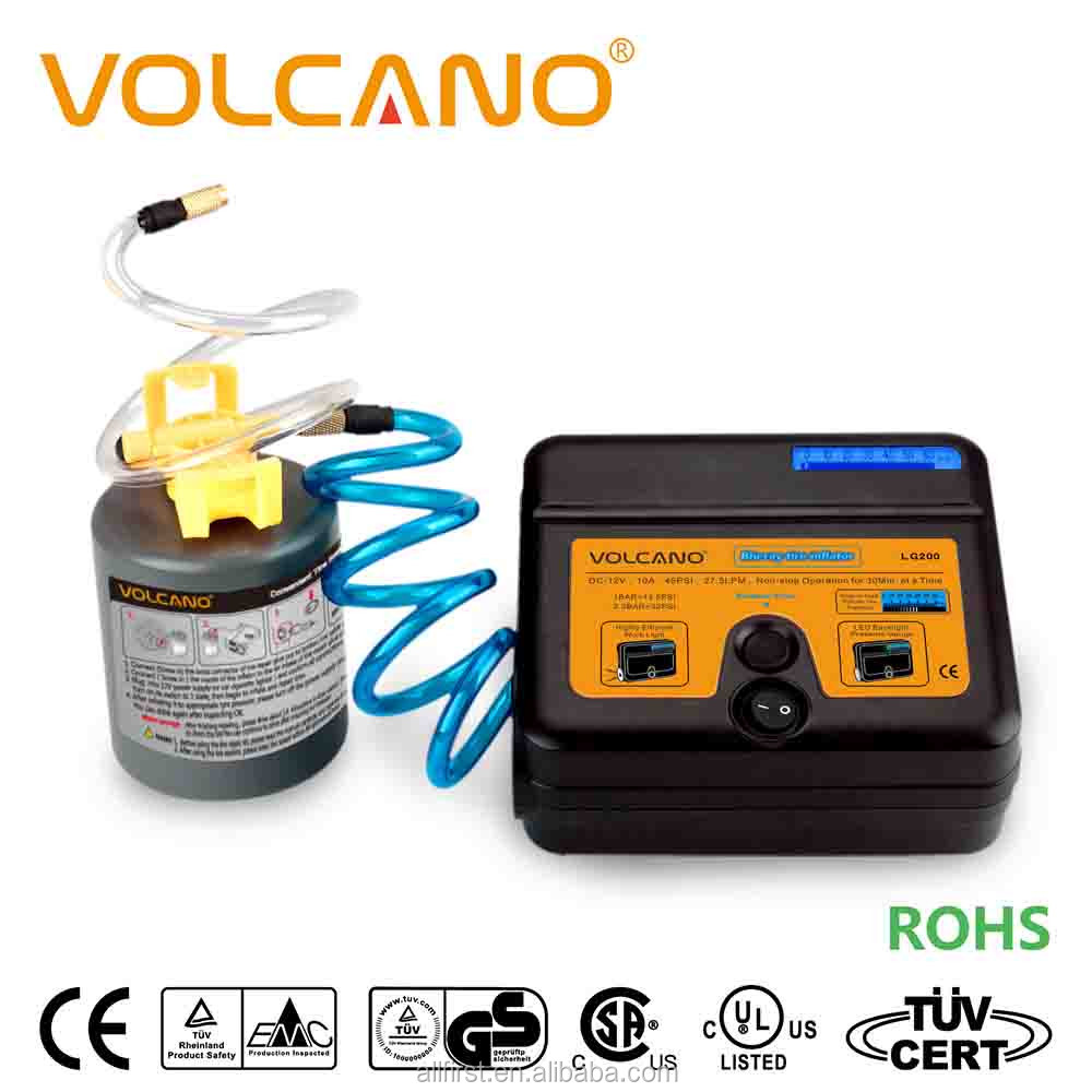 Emergency tire repair sealant and dc12v inflator