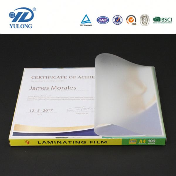 125mic A4/A3 Thermal Lamination pouch film in high quality and cheap price