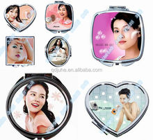 sublimation blank metal compact mirror,hand mirrors cheap