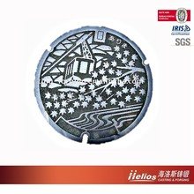ISO9001:2008 Clay sand casting manhole cover