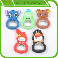 Stainless bottle opener with fine cartoon can been customized
