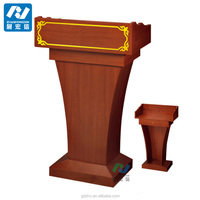 solid wood podium wooden rostrum design for church and school lecture