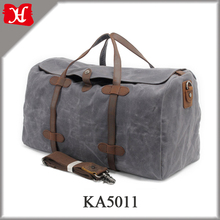 Vintage Waxed Canvas Travel Bag Extra Large Capacity Holdall Travel Duffle Bag