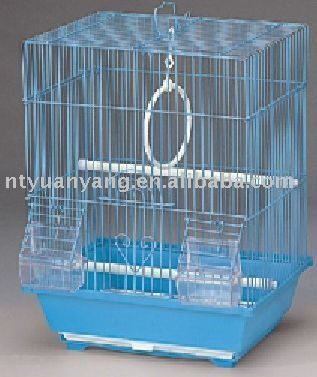 blue wire bird breeding cage case with plastic pan supplier