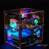 PC-C004 Full Transparent Acrylic Personalized Water Cooled Gaming Computer Case