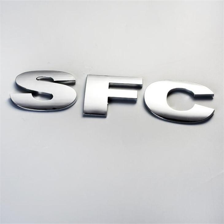 Professional Auto Car Stickers Type Custom Made Matt Finished Plastic Car Logo Letter Nameplate With 3M Glue