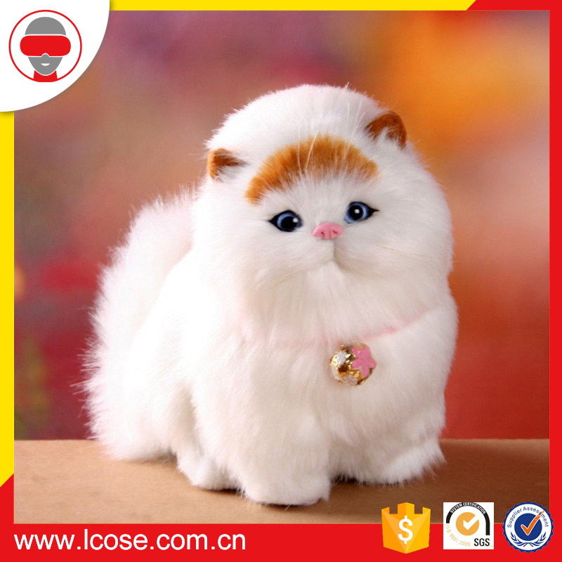 Animals cat simulation decorative kitten standing cat stuffed toy