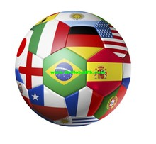 2014 Brazil world cup 32 teams national flags promotion cheap soccer ball