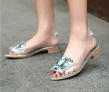 2014 summer newest european and american fashion casual open-toed sandals with rhinestones flat soft surface women sandals