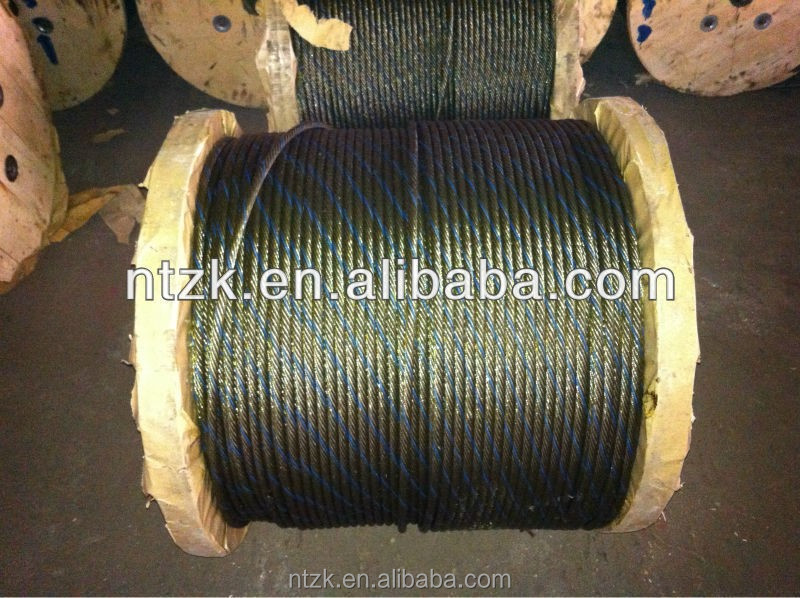 35w*7 No-ratating steel wire rope ,wire rope for tower crane