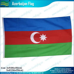 3x5ft Polyester Blue Red Green Azerbaijan Flag