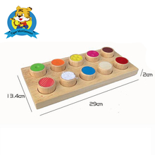 Wooden montessori toy for kids Montessori Wooden Texture Cylinders