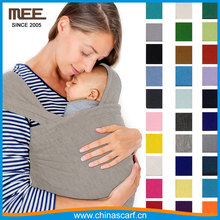 solid color jersey cotton baby carrier wrap factory mom on the going baby sling wrap