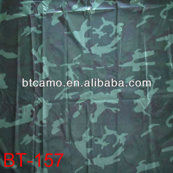 Military Polyester PVC Coated Camouflage Fabric
