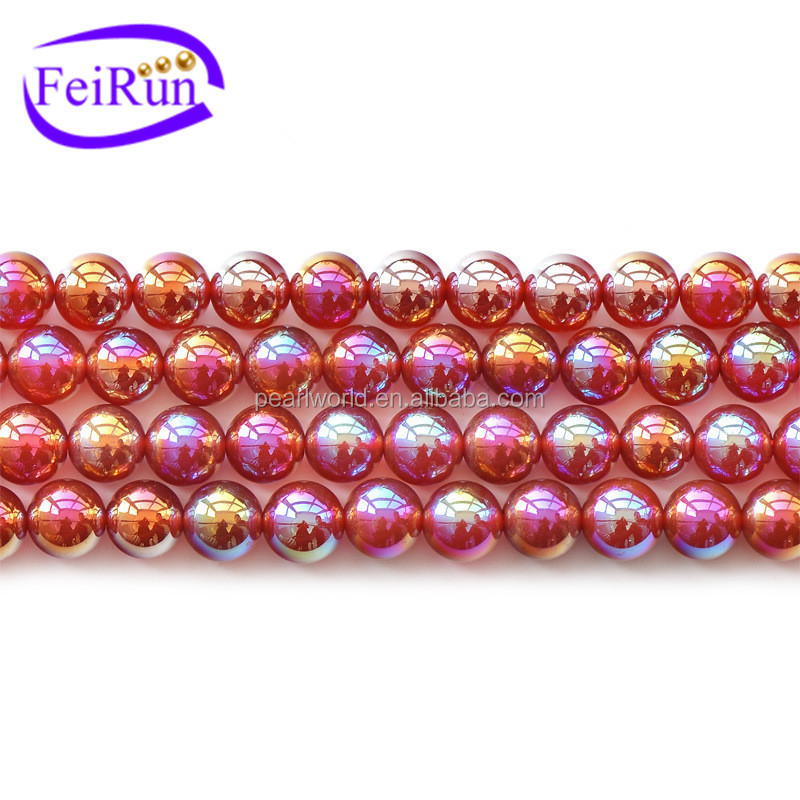FEIRUN 6-12mm shinning women DIY red gemstone globe, gemstone crystal maker, agate geode stone